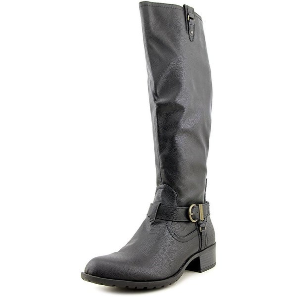 Rampage Intense Women Round Toe Synthetic Black Knee High Boot