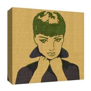 """PTM Images 9-126822  PTM Canvas Collection 12"""" x 12"""" - """"Sepia Woman III"""" Giclee Audrey Hepburn Art Print on Canvas"""