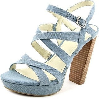 BCBGeneration Morgan   Open Toe Canvas  Platform Heel