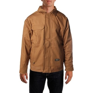 Berne Mens Fire Resistant Zip Front Coat - XL