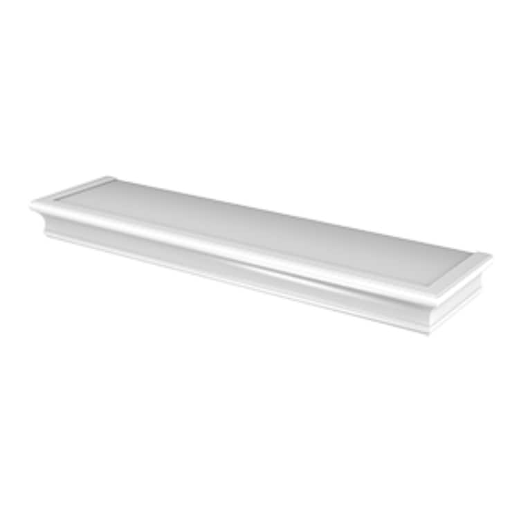 Hillman 515604 High & Mighty Beveled Floating Shelf, White, 18