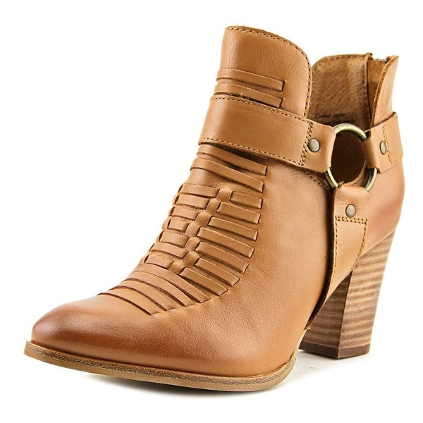 Seychelles Impossible Women Pointed Toe Leather Tan Ankle Boot