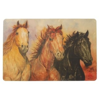 Gift Corral Western Placemats Horse Image Set of 4Multi-Color - Multi-color