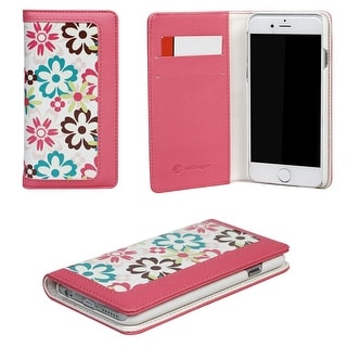 JAVOedge Flower Clutch Wallet Case with Magnetic Closure and 2 Card Slots Wristlet for iPhone 6 (4.7 inch)