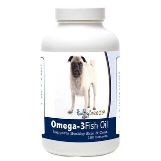 Healthy Breeds Pug Omega-3 Fish Oil Softgels