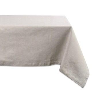 """Cream White Rectangular Tablecloth 60"""" x 120"""" - N/A"""