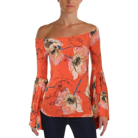 We The Free Womens Pullover Top Knit Off-The-Shoulder