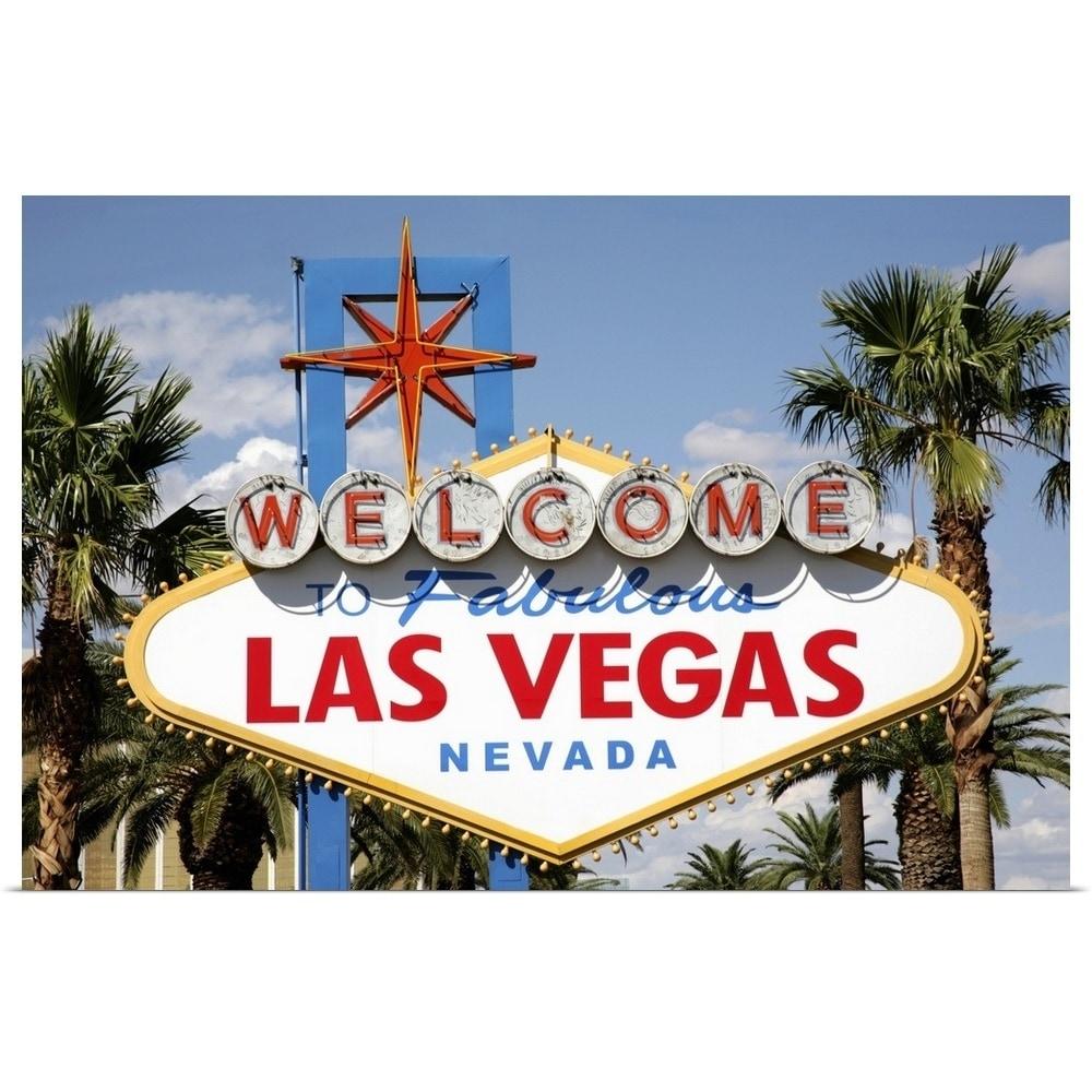 Poster Home Decor Welcome To Fabulous Las Vegas Art//Canvas Print Wall Art