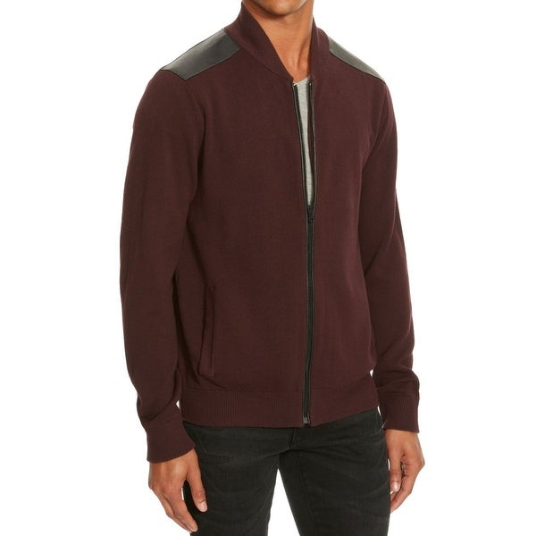 37b287ba529faa Shop Kenneth Cole Reaction NEW Red Merlot Mens Size Small S Full Zip Sweater  - Free Shipping On Orders Over $45 - Overstock - 19664059