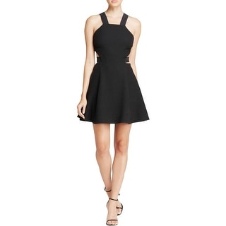 Elizabeth and James Womens Kayne Cocktail Dress Textured Cut-Out - 6