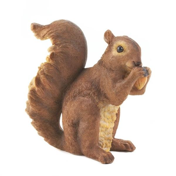Novelty Nibbling Squirrel Garden Statue
