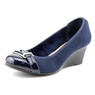 Alfani Tomina Women Open Toe Synthetic Blue Wedge Heel