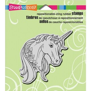 "Stampendous Cling Stamp 4.75""X4.5""-Unicorn Rose"