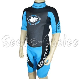 Maui & Sons 3/2 mm Boy's Neoprene Short Sleeve Surfing Suit Black/Blue