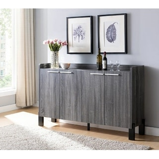 Link to Q-Max Sideboard / Buffet Table with Two Storage Cabinet in Distressed Grey Finish Similar Items in Media Cabinets