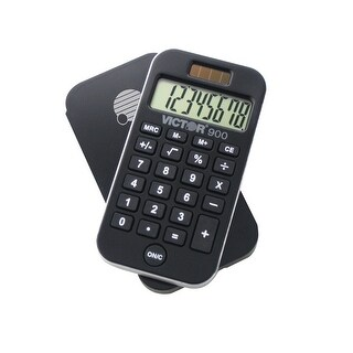 Victor 8-Digit LCD 14 mm Pocket Calculator, 3-Key Memory, Well-Spaced Key, Recycled Plastic