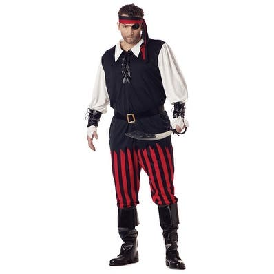 California Costumes Plus Size Cutthroat Pirate Costume - Black/Red - X-Large