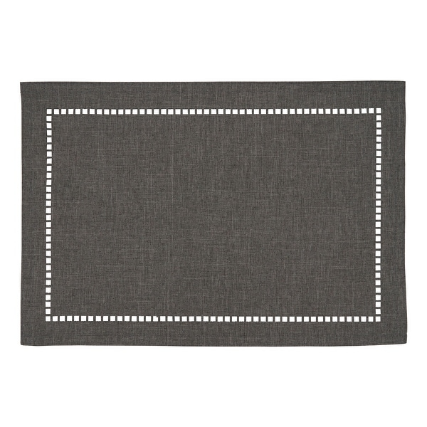 Table Placemats With Laser-Cut Hemstitch Design (Set of 4). Opens flyout.
