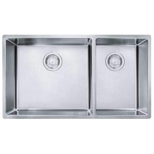 Franke Cux160 Cube 31 1 2 Double Basin Stainless Steel Kitchen Sink For