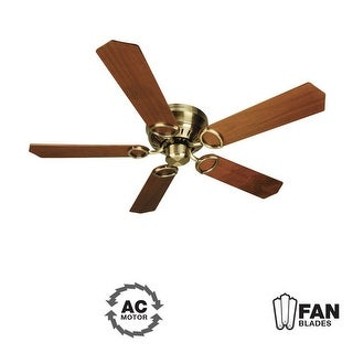 "Craftmade K10776 Universal Hugger 52"" 5 Blade Energy Star Flush Mount Indoor Ceiling Fan - Blades Included - Antique Brass"