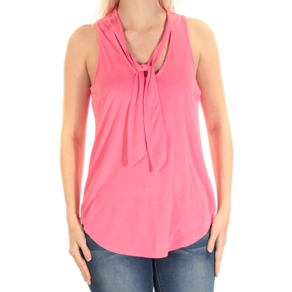 5596ca92a32 Shop ALMOST FAMOUS Womens Pink Sleeveless Scoop Neck Top Size  M - Free  Shipping On Orders Over  45 - Overstock - 23457802