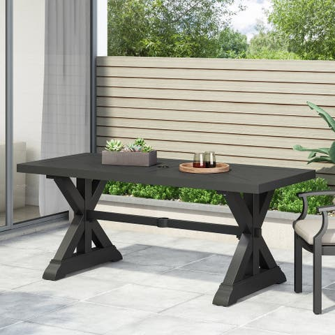 Brookdale Outdoor Aluminum Dining Table by Christopher Knight Home