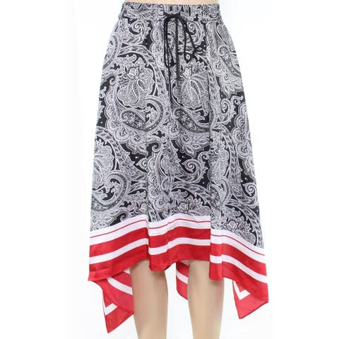 Lauren by Ralph Lauren Womens Black Size 14P Petite A-Line Midi Skirt