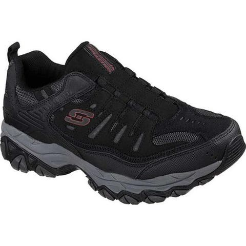 Skechers Men's After Burn M. Fit Slip-On Walking Shoe Black/Charcoal