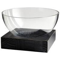 Cyan Design Large Clara Bowl Clara 9.75 Inch Wide Glass and Wood Decorative Bowl - n/a