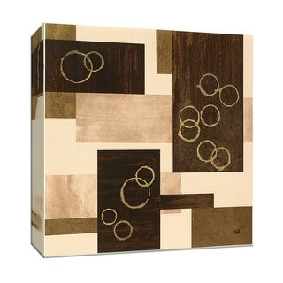 """PTM Images 9-152965  PTM Canvas Collection 12"""" x 12"""" - """"Gold Circles"""" Giclee Abstract Art Print on Canvas"""