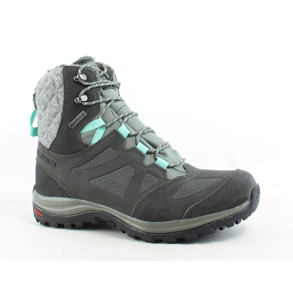 Salomon Womens Ellipse Winter Gtx Gray Snow Boots Size 6.5