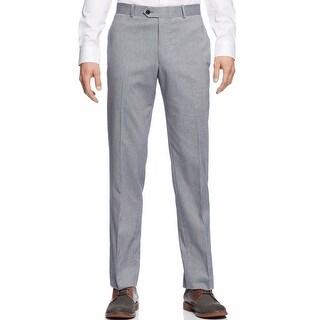 Bar III Tech Dress Pants 38 x 30 Denim Blue Twill Slim Stretch Flat Front