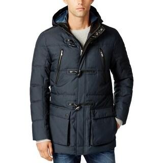 Calvin Klein Mens Basic Coat Hooded Water Repellent