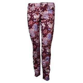 Else Women's Floral Print Skinny Pants - violet