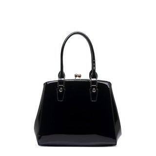 Style Strategy Prudence Patent Leather Bag Black