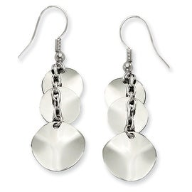 Chisel Stainless Steel Polished Multi Circles Dangle Earrings