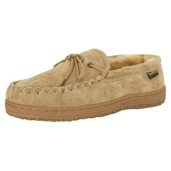 Old Friend Slippers Mens Sheepskin Loafer Moccasin Chestnut 421208