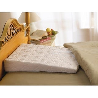 sleep wedge pillow with extra white quilted satin cover
