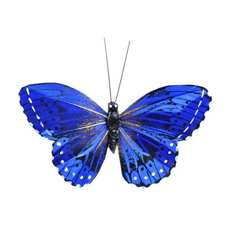 "Midwest Design Butterfly3.75"" Monarch Blue 1pc"