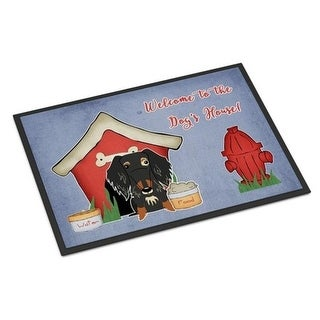 Carolines Treasures BB2882JMAT Dog House Collection Wire Haired Dachshund Dapple Indoor or Outdoor Mat 24 x 0.25 x 36 in.