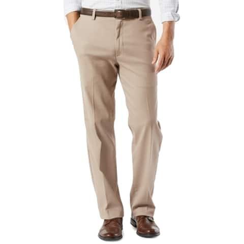 Dockers Mens Pants Beige Size 38x30 Flat Front Khakis Classic Stretch