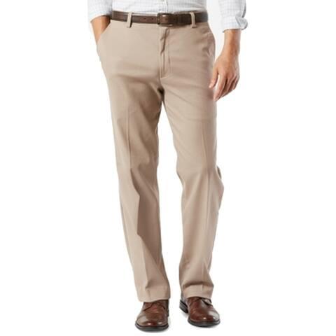 Dockers Mens Pants Beige Size 40X30 Classic Non-Wrinkle Khaki Stretch