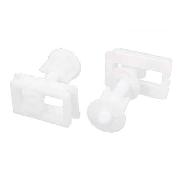 Fine 39Mm X 24Mm Rectangular Toilet Seat Hinge Bolts Nuts White 2Pcs Gamerscity Chair Design For Home Gamerscityorg