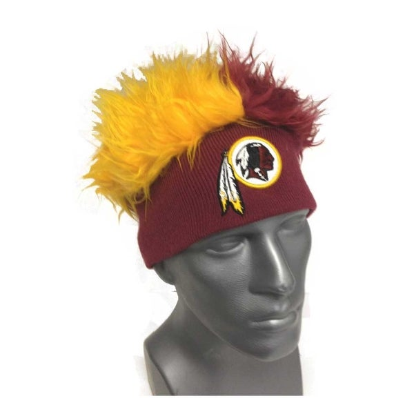 new product 84297 75dff Shop Washington Redskins Knit Beanie with Two-Tone Fuzzy Hair - Free  Shipping On Orders Over  45 - Overstock - 18690241