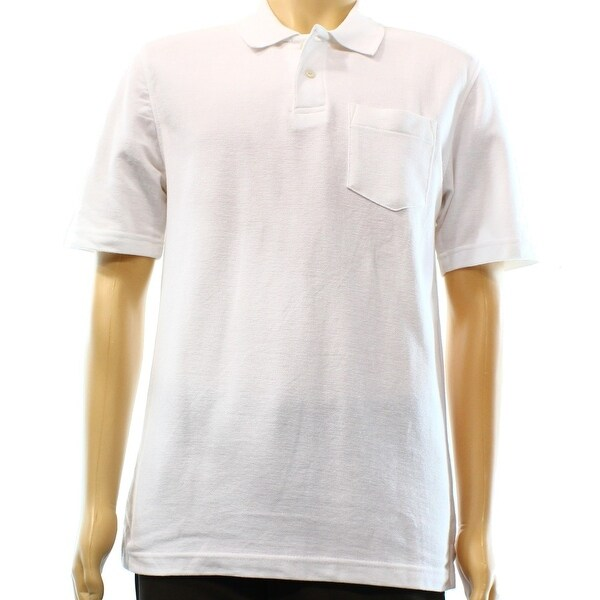 ecade608df John Ashford NEW Bright White Mens Size XL Classic-Fit Pique Polo Shirt 111
