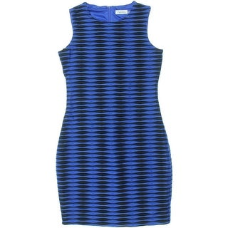 Calvin Klein Womens Petites Pattern Sleeveless Cocktail Dress - 8P