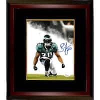 Brian Dawkins signed Philadelphia Eagles 8x10 Photo Custom Framed 20 smokeflexing JSA Hologram
