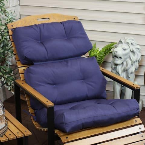 Sunnydaze Tufted High Back Olefin Indoor/Outdoor Patio Chair Cushion