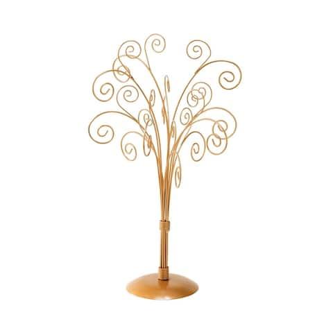 11 Arm Table Top Metal Card Tree