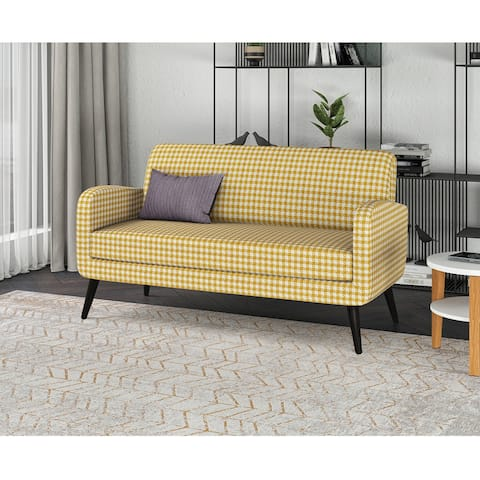 Carson Carrington Tjaereborg Mid-century Modern Houndstooth Sofa